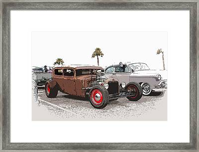 Car Show Cool Framed Print by Steve McKinzie