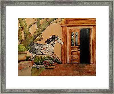 Framed Print featuring the painting Cara-soul by Teresa Beyer
