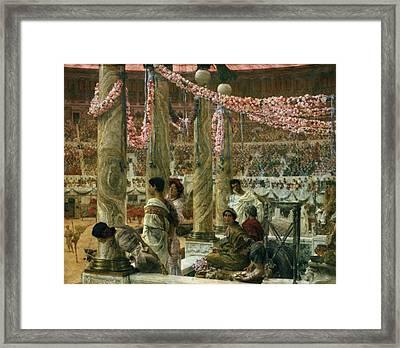 Caracalla And Geta Framed Print by Sir Lawrence Alma-Tadema