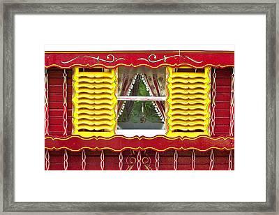 Caravan Window Framed Print by Tom Gowanlock