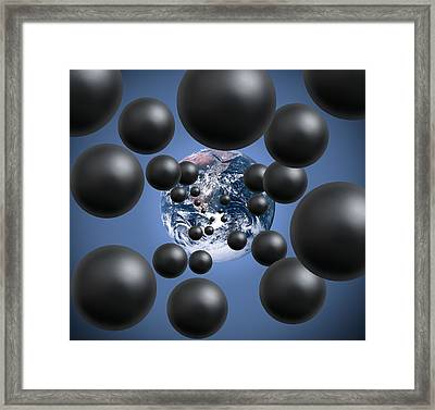 Carbon Dioxide And Climate Change Framed Print by Victor De Schwanberg