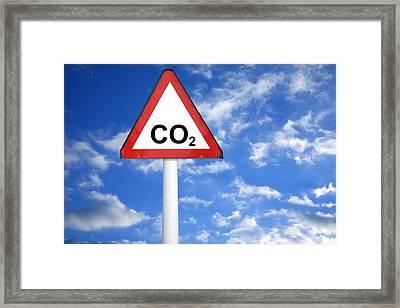 Carbon Dioxide And Global Warming Framed Print by Victor De Schwanberg