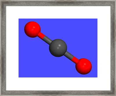 Carbon Dioxide Framed Print by Dr Tim Evans