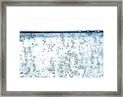 Carbonated Water Framed Print by Photo Researchers, Inc.