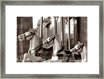 Carcassone Ride Framed Print by Robert Lacy