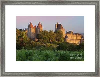 Carcassonne Dawn Framed Print