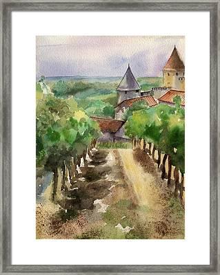 Carcassonne Framed Print by Lydia Irving