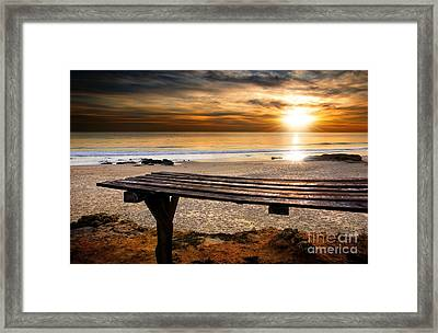 Carcavelos Beach Framed Print by Carlos Caetano