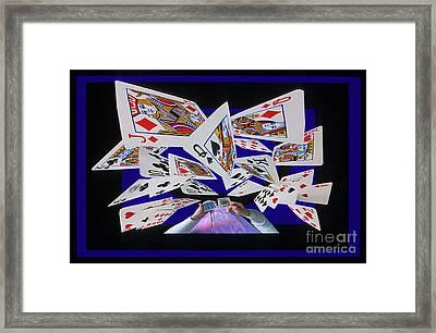 Card Tricks Framed Print by Bob Christopher
