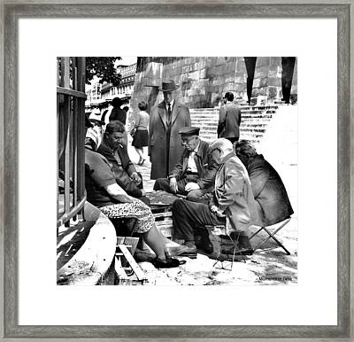 Cardgame Paris 1960 Framed Print by Glenn McCurdy
