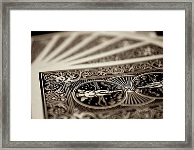 Cards Framed Print by Mike Horvath