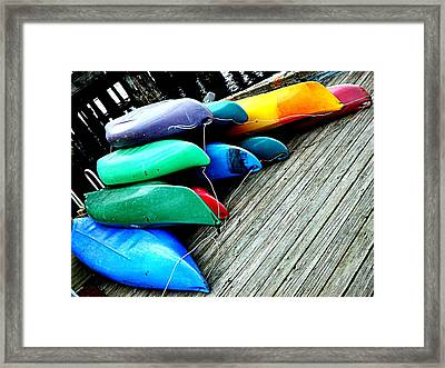 Carefully Stacked Framed Print by Kevin D Davis