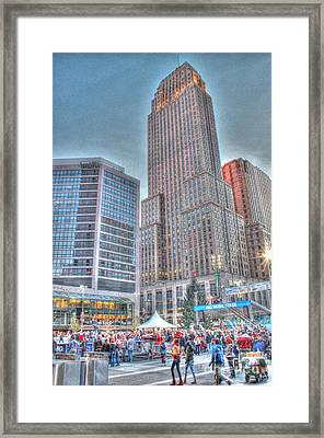 Carew Tower From Fountain Square Framed Print
