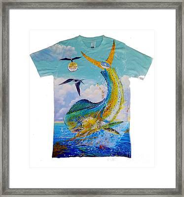 Carey Chen Mens Dolphin Shirt Framed Print by Carey Chen