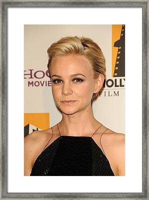 Carey Mulligan At Arrivals For 15th Framed Print by Everett