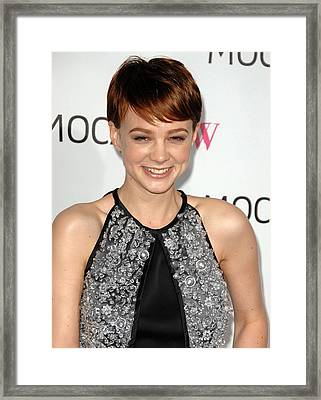 Carey Mulligan Wearing A Prada Dress Framed Print by Everett