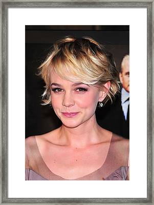 Carey Mulligan Wearing Fred Leighton Framed Print by Everett