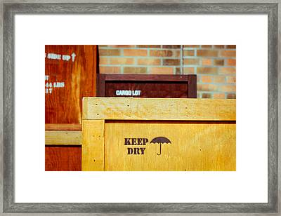 Cargo Crates Framed Print by Tom Gowanlock