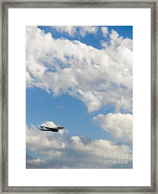Cargo Jet In Flight Framed Print