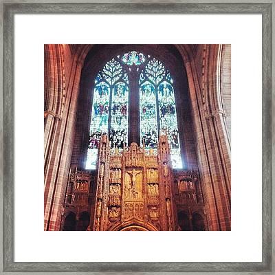 #carhederal #liverpool Framed Print