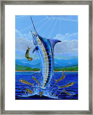 Caribbean Blue Framed Print by Carey Chen