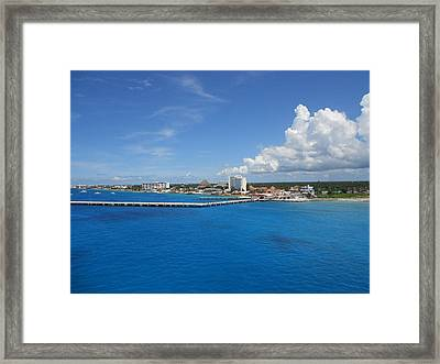 Framed Print featuring the photograph Caribbean Blue by Sheila Silverstein