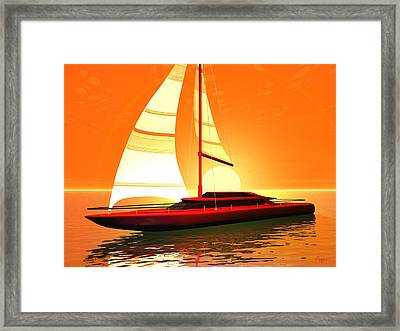 Framed Print featuring the digital art Caribbean Cruiser by John Pangia