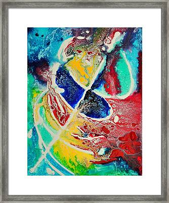 Framed Print featuring the painting Caribbean Maelstrom by Christine Ricker Brandt