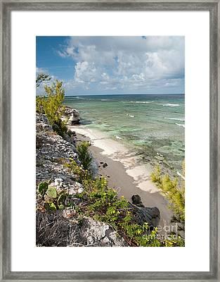 Caribbean Shoreline Framed Print by Jim Chamberlain