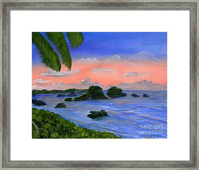 Caribbean Sky Framed Print by Maria Williams
