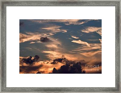 Caribbean Sunset Near Norman Island Framed Print by Louise Heusinkveld