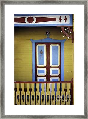 Framed Print featuring the photograph Caribbean Veranda Isla Mujeres Mexico by John  Mitchell