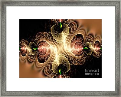 Caribbean Wave - The Beauty Of Simple Fractals Framed Print by Vidka Art