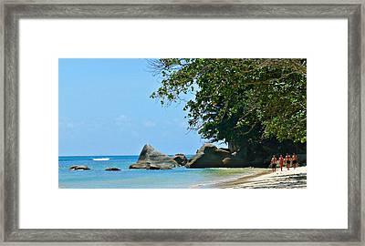 Caribe Beach Framed Print by Jenny Senra Pampin