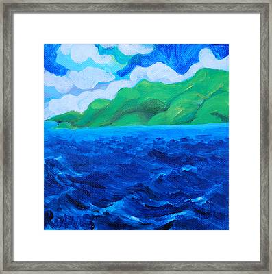 Caribe Seascape Framed Print