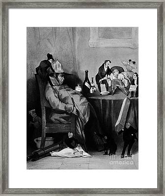 Caricature Of Hypochondriac, 1833 Framed Print by Science Source