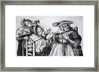 Caricature Of Three Alcoholics, 1773 Framed Print