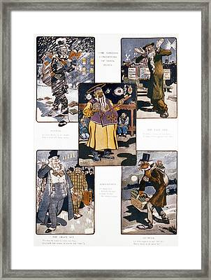 Caricatures During Christmas, Title Framed Print by Everett