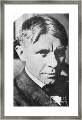 Carl Sandburg, American Poet Framed Print by Photo Researchers