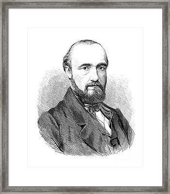 Carl Wunderlich, German Physician Framed Print by Science Source