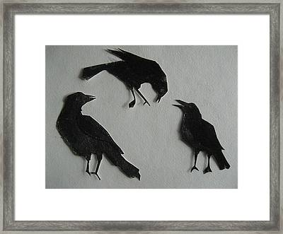 Carl's Crows Framed Print by Betty Pieper