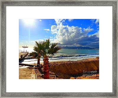 Carlton Beach Cannes Framed Print