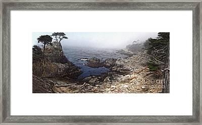 Carmel California - Lone Pine Framed Print by Gregory Dyer