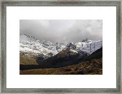 Carn Coire Na Creiche Mountains Framed Print by Duncan Shaw