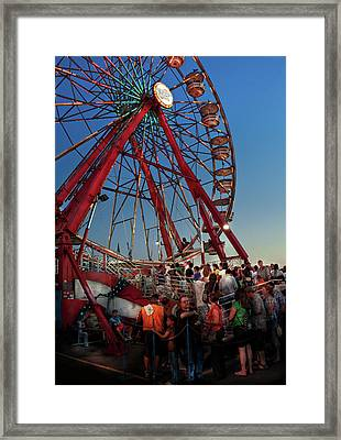 Carnival - An Amusing Ride  Framed Print by Mike Savad