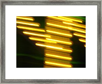 Carnival Blur Framed Print by Michelle Calkins