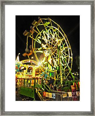 Carnival Ferris Wheel Framed Print by Gregory Dyer
