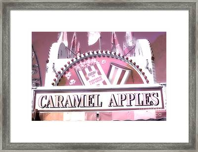 Carnival Festival Fun Fair Caramel Apples Stand Framed Print by Kathy Fornal