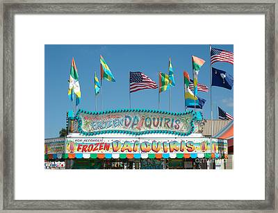 Carnival Festival Fun Fair Frozen Daiguiris Stand Framed Print by Kathy Fornal