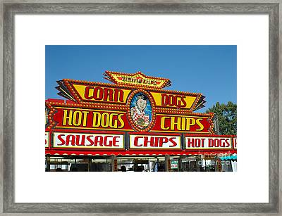Carnival Festival Fun Fair Hot Dog Stand Framed Print by Kathy Fornal